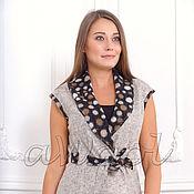 Одежда ручной работы. Ярмарка Мастеров - ручная работа Жилет  серый из валяного шерстяного трикотажа A1D. Handmade.