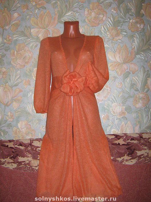 """Верхняя одежда ручной работы. Ярмарка Мастеров - ручная работа. Купить Пальто """"Летнее солнышко"""". Handmade. Оранжевый, мохер"""
