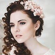 Свадебный салон ручной работы. Ярмарка Мастеров - ручная работа Веточка из персиковых цветочков для невесты. Handmade.