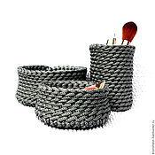 Для дома и интерьера ручной работы. Ярмарка Мастеров - ручная работа ARMOUR. Набор корзиночек для мелочей. Handmade.