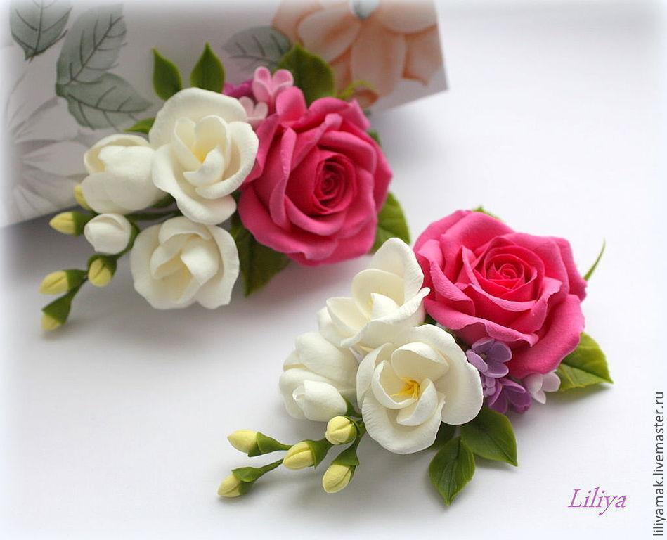 Цветы из фоамирана для заколки своими руками 23