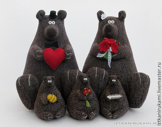 Игрушки животные, ручной работы. Ярмарка Мастеров - ручная работа. Купить Медведи большие и малые. Handmade. Коричневый, свадьба