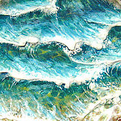 """Картины и панно ручной работы. Ярмарка Мастеров - ручная работа """"Море"""", панно рельефное. Handmade."""