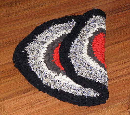 Текстиль, ковры ручной работы. Ярмарка Мастеров - ручная работа. Купить Деревенский коврик. Handmade. Комбинированный, круглый коврик, для дачи