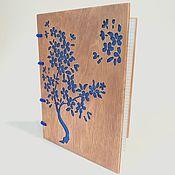 Блокноты ручной работы. Ярмарка Мастеров - ручная работа Блокноты в деревянной обложке А5. Handmade.