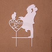 Свадебный салон ручной работы. Ярмарка Мастеров - ручная работа Свадебные топперы (2 вида). Handmade.