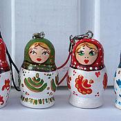 Русский стиль handmade. Livemaster - original item Charms matryoshka. Handmade.