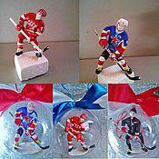 Подарки к праздникам ручной работы. Ярмарка Мастеров - ручная работа подарок хоккеисту в шаре. Handmade.
