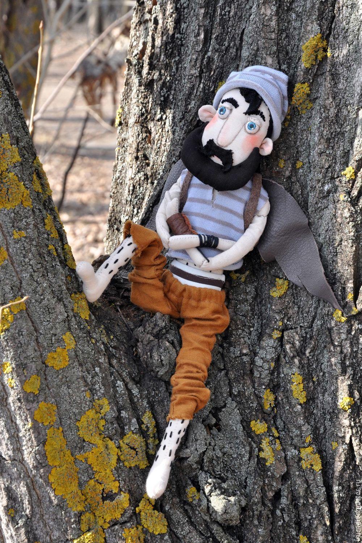 Мужчина с бородой. Текстильная кукла, Куклы и пупсы, Пенза,  Фото №1