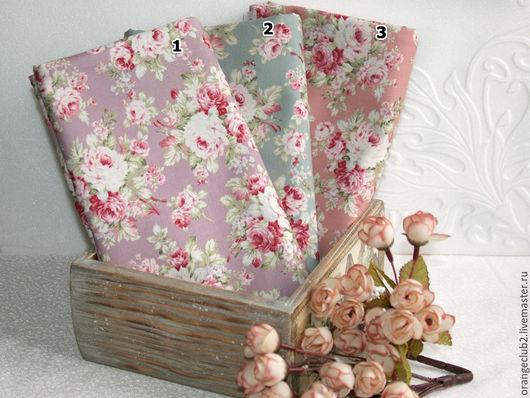 Шитье ручной работы. Ярмарка Мастеров - ручная работа. Купить Корейская ткань шебби розы 3 цвета. Handmade. Ткань