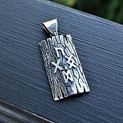Украшения handmade. Livemaster - original item Silver pendant with runes. Handmade.