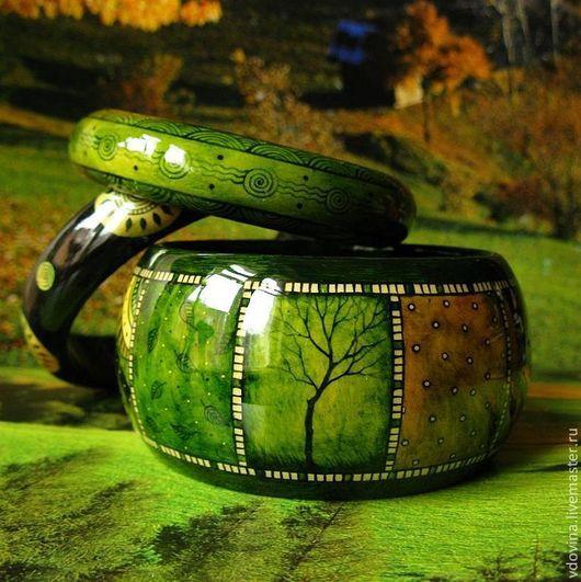 Браслеты ручной работы. Ярмарка Мастеров - ручная работа. Купить Браслеты Зелёная история. Handmade. Браслеты, этно-стиль, оливковый