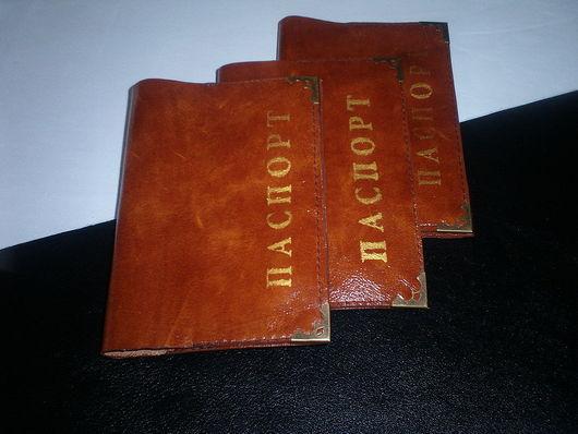 Обложки ручной работы. Ярмарка Мастеров - ручная работа. Купить Обложка на  паспорт. Handmade. Подарок, обложка из кожи, Бижутерия