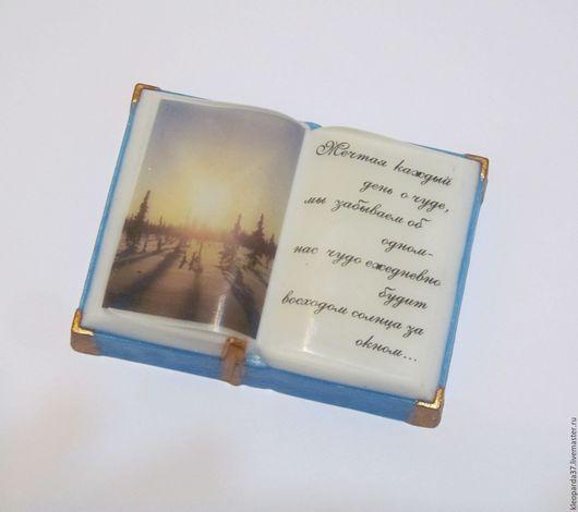 """Мыло ручной работы. Ярмарка Мастеров - ручная работа. Купить Мыло сувенирное """" Книга"""".. Handmade. Книга ручной работы"""
