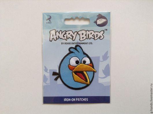 """Аппликации, вставки, отделка ручной работы. Ярмарка Мастеров - ручная работа. Купить Термоаппликация """"Angry Birds"""" 1 в наличии. Handmade."""