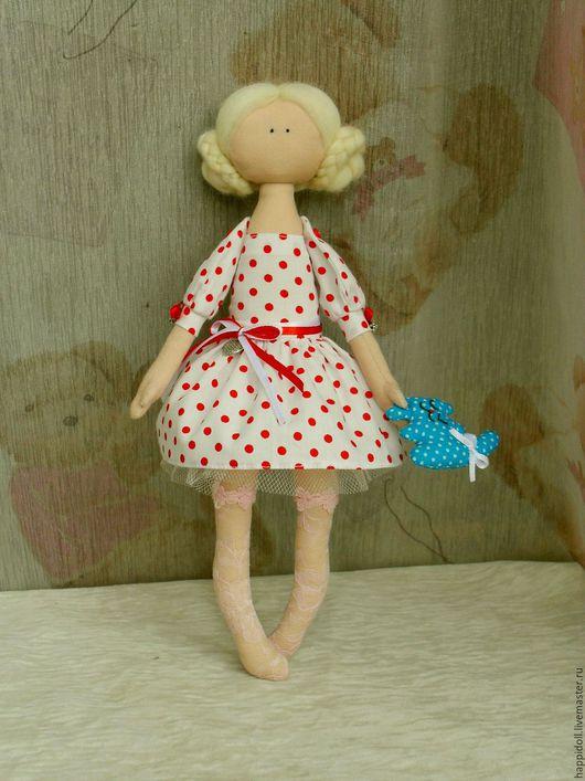 Куклы тыквоголовки ручной работы. Ярмарка Мастеров - ручная работа. Купить Текстильная Кукла Алечка. Handmade. Девочка с котом