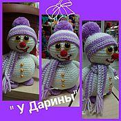 Подарки к праздникам ручной работы. Ярмарка Мастеров - ручная работа Снеговик мягкая игрушка. Handmade.