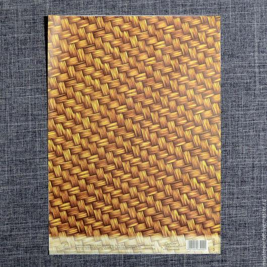 ДК-1002639. Декупажная карта `Плетенка`