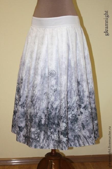 Юбки ручной работы. Ярмарка Мастеров - ручная работа. Купить Батистовая юбка. Handmade. Серый, летняя юбка, лето 2015