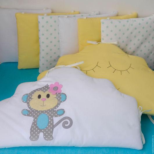 Детская ручной работы. Ярмарка Мастеров - ручная работа. Купить Бортики в кроватку. Handmade. Комплект в кроватку, детское постельное белье