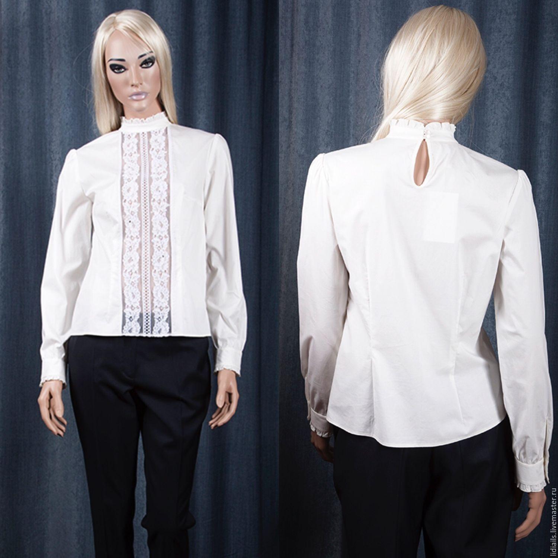White shirt with lace, Blouses, Nizhny Novgorod,  Фото №1