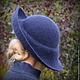 """Шляпы ручной работы. Дамская шляпа """"Ветер перемен"""". Ирина Спасская.. Ярмарка Мастеров. Дамская шляпка, теплая шляпа"""