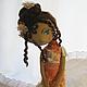 Куклы тыквоголовки ручной работы. Ярмарка Мастеров - ручная работа. Купить Неженка. Handmade. Рыжий, тонирование, искуственные цветы