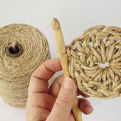 Материалы для творчества handmade. Livemaster - original item Yarn `Jute` 100% natural fiber. Handmade.