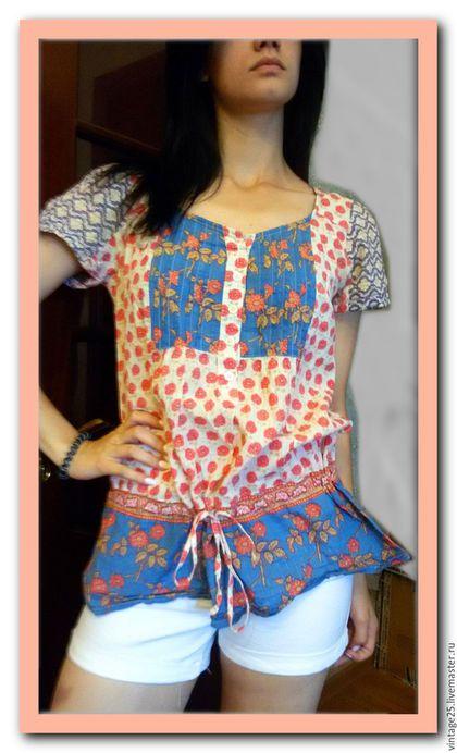Одежда. Ярмарка Мастеров - ручная работа. Купить Туника в стиле пэйчворк. Handmade. Комбинированный, туника в стиле пэчворк, винтажная туника