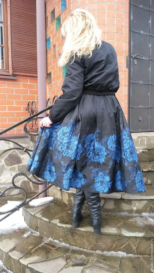 """Юбки ручной работы. Ярмарка Мастеров - ручная работа. Купить Юбка  """"Синие розы"""". Handmade. Черный, мода 2016"""