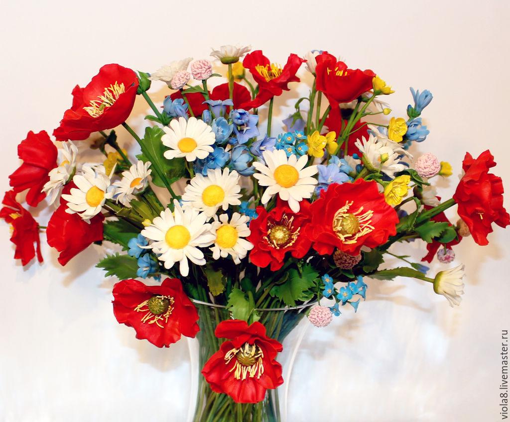 Bouquet The Flowers Of The Fielda Bouquet Of Poppychamomilebells
