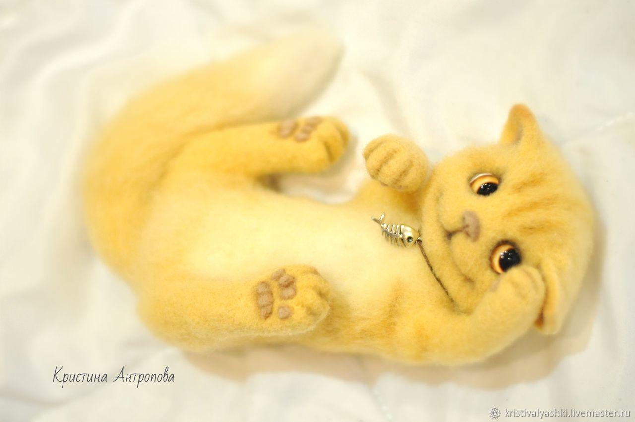 Felt toy Cat, Felted Toy, Arkhangelsk,  Фото №1