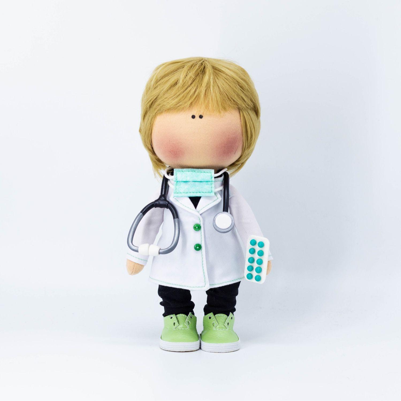Портретная текстильная кукла-врач, Куклы тыквоголовки, Санкт-Петербург, Фото №1