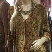 Одежда ручной работы. Ярмарка Мастеров - ручная работа Платье в восточном стиле из золотистого панбархата.. Handmade.