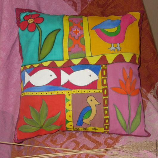 Текстиль, ковры ручной работы. Ярмарка Мастеров - ручная работа. Купить Подушка Мексика. Handmade. Подушка декоративная, подарок женщине