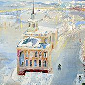 Картины и панно ручной работы. Ярмарка Мастеров - ручная работа Зимний мост. Handmade.