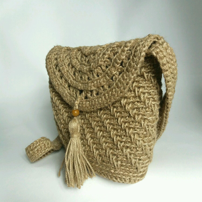 28fd6993a66d Таисия. Интернет Женские сумки ручной работы. Заказать Сумочка вязаная из  джута Маленькая с кисточкой.