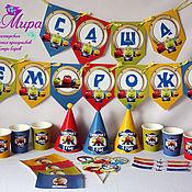 Подарки к праздникам ручной работы. Ярмарка Мастеров - ручная работа Атрибутика для оформления дня рождения в стиле мультфильма Чаггингтон. Handmade.
