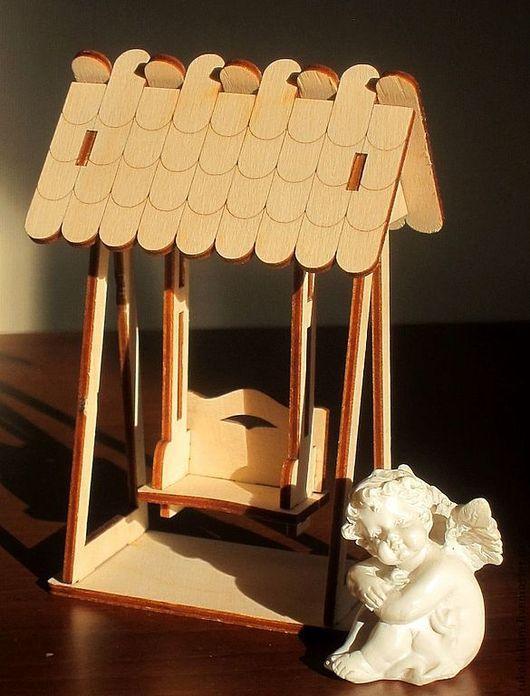 Куклы и игрушки ручной работы. Ярмарка Мастеров - ручная работа. Купить Качелька. Handmade. Деревянная игрушка, качелька, деревянная качелька