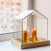 Для дома и интерьера ручной работы. Ярмарка Мастеров - ручная работа Домик для свечей. Handmade.