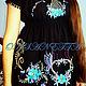 For Mums-to-Be & New Mums handmade. Order tunic of black linen'fabulous night'. Individual vyshivanka. (oksanetta). Livemaster.