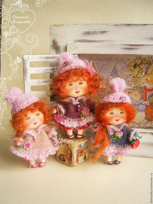 Коллекционные куклы ручной работы. Ярмарка Мастеров - ручная работа. Купить Куколка-малышка интерьерная текстильная кукла. Handmade. Серый