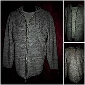 Одежда handmade. Livemaster - original item 70 % linen 30% wool Sweatshirt CHAINMAIL zip hoodie.. Handmade.
