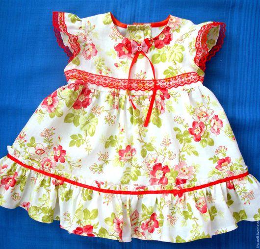 """Одежда для девочек, ручной работы. Ярмарка Мастеров - ручная работа. Купить платье """"Нежный шиповник"""". Handmade. Белый, Платье нарядное"""