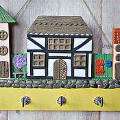 Для дома и интерьера handmade. Livemaster - original item Housekeeper Spring in the city 4.The housekeeper wall. decor polymer clay.. Handmade.