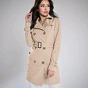 Одежда handmade. Livemaster - original item Trench coat beige short. Handmade.
