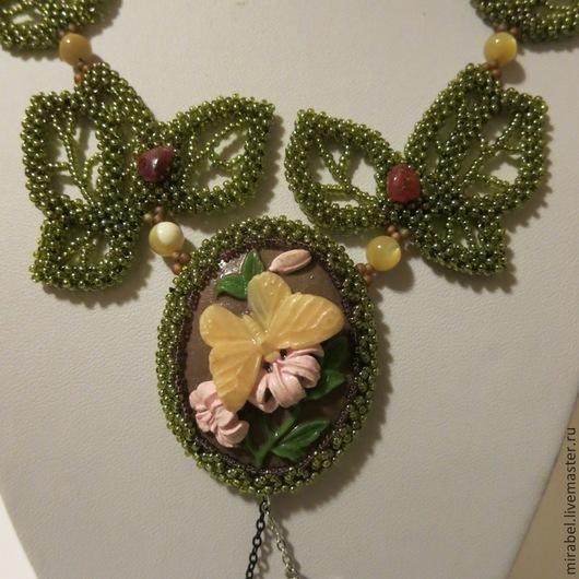 Кулоны, подвески ручной работы. Ярмарка Мастеров - ручная работа. Купить кулон Август украшение из бисера бисерный кулон. Handmade.