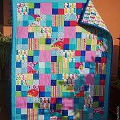 """Для дома и интерьера ручной работы. Ярмарка Мастеров - ручная работа """"Радость в квадрате"""" детское лоскутное одеяло. Handmade."""