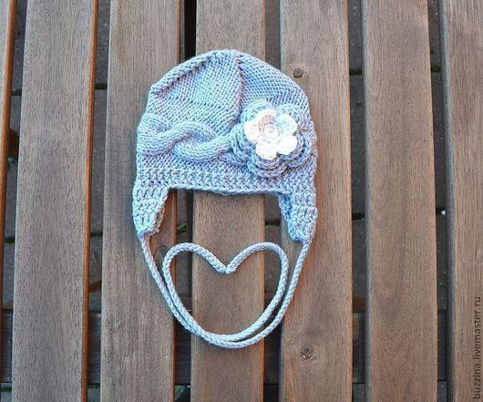 Для новорожденных, ручной работы. Ярмарка Мастеров - ручная работа. Купить Шапка для девочки шапочка на выписку для новорожденной. Handmade. Шапка