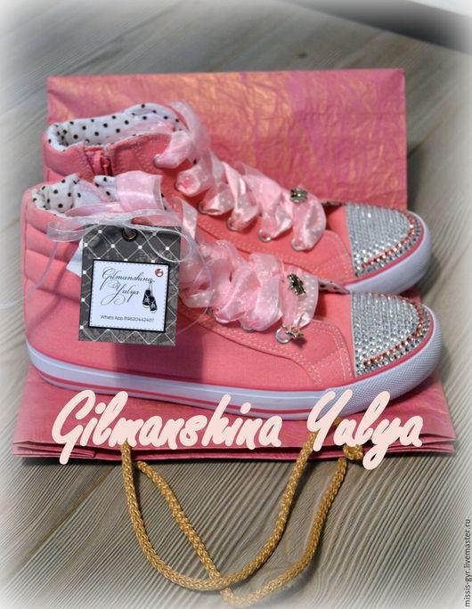 Детская обувь ручной работы. Ярмарка Мастеров - ручная работа. Купить Милашки. Handmade. Розовый, обувь ручной работы, звезда